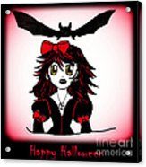 Little Goth Halloween Girl Acrylic Print