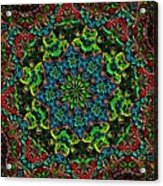 Little Green Men Kaleidoscope Acrylic Print