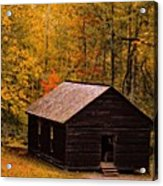 Little Greenbrier Schoolhouse In Autumn  Acrylic Print