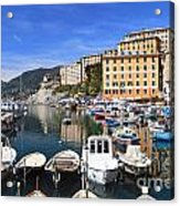 little harbor in Camogli Acrylic Print