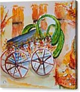 Little Harvest Wagon Acrylic Print
