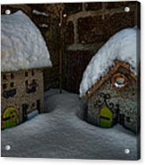 Little Houses Big Snow Acrylic Print
