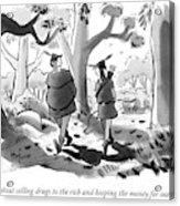 Little John And Robin Hood Walk Acrylic Print