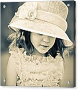 Little Lady Acrylic Print
