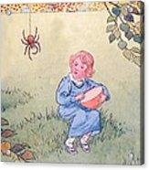 Little Miss Muffet Acrylic Print by Leonard Leslie Brooke