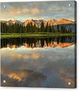 Little Molas Lake At Sunset Acrylic Print