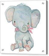 Little Pocket Elephant Acrylic Print