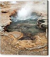Little Pool Geyser At Black Sands Geyser Basin Acrylic Print