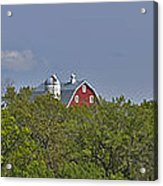 Little Red Barn In The Vale Acrylic Print