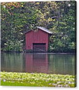 Little Red Boat House Acrylic Print