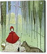 Little Red Riding Hood, Artwork Acrylic Print