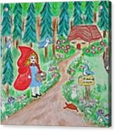 Little Red Riding Hood With Grandma's House On Mailbox Acrylic Print