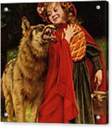 Little Red Riding Hood Acrylic Print