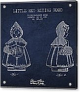 Little Red Riding Hood Patent Drawing From 1943 Acrylic Print by Aged Pixel