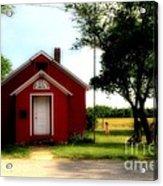 Little Red School House Acrylic Print