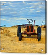Little Red Tractor 4 Acrylic Print