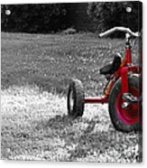 Little Red Trike Acrylic Print