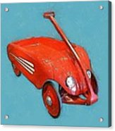 Little Red Wagon Acrylic Print