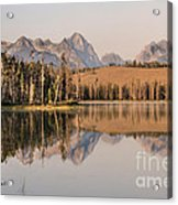Little Redfish Lake Reflections Acrylic Print
