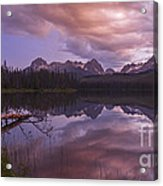 Little Redfish Lake Sunset Stanley Idaho Acrylic Print