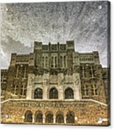 Little Rock Central High Reflecting Upon The Past Acrylic Print by Jason Politte