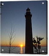 Little Sable Lighthouse At Sunset Acrylic Print