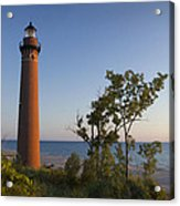 Little Sable Lighthouse By The Shore Acrylic Print