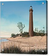 Little Sable Point Lighthouse Titled Acrylic Print