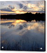 Little Silver Lake Sunset Acrylic Print
