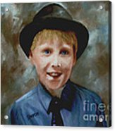 Little Sinatra Acrylic Print by Sharon Burger