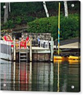 Little Sister Dock Reflection Acrylic Print