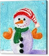 Little Snowman Acrylic Print