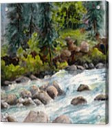 Little Susitna River Rocks Acrylic Print