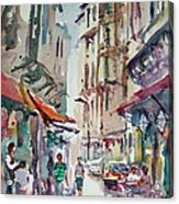 Little Trip At Exotic Streets In Istanbul Acrylic Print