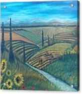 Little Tuscany Acrylic Print