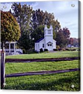 Little Village Chapel Of The Immanuel Lutheran Church Acrylic Print