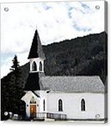 Little White Church Acrylic Print