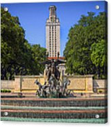 Littlefield Fountain - University Of Texas Acrylic Print