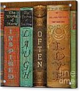 Live-laugh-love-books Acrylic Print