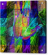 Live Long And Prosper 20150302v2 Color Squares With Text Acrylic Print