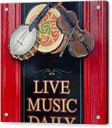 Live Music Daily Acrylic Print