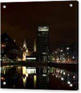 Liverpool Docks At Night Acrylic Print