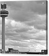 Liverpool Skyline With Radio City Tower Acrylic Print