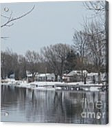 Living By The River Acrylic Print
