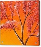 Living Loving Tree Top Right Acrylic Print