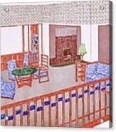 Living Room, Early 1900s Acrylic Print