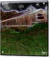 Livingston Manor Covered Bridge - Featured In Comfortable Art Group Acrylic Print