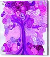Liz Dixon's Tree Pink By Jrr Acrylic Print