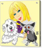 Lizzie And Dimey And Pinny Acrylic Print