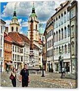 Ljubljana Town Square Acrylic Print